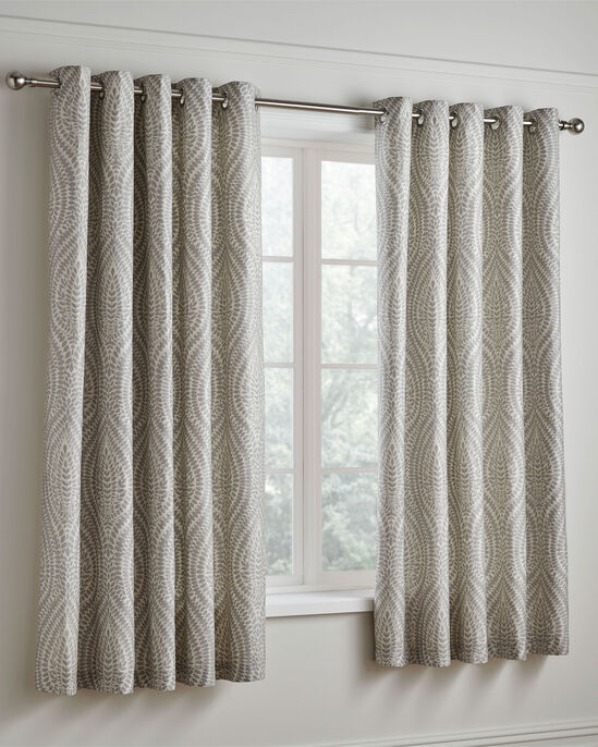 "Erin 200TC Cotton Eyelet Curtains 66x72"""