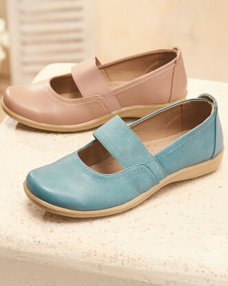 Flexisole Elasticated Strap Shoes
