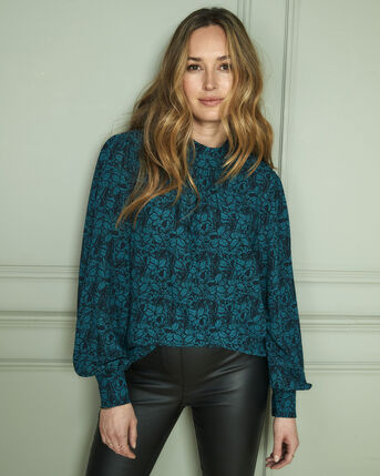 Darcy High Neck Printed Blouse