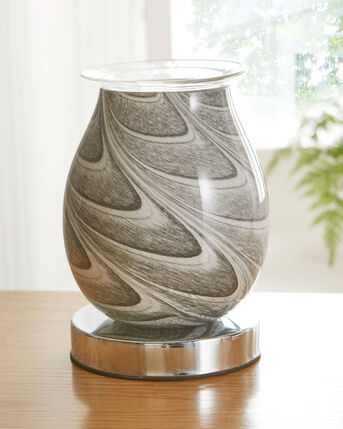 Aroma Lamp With Marble Effect Glass