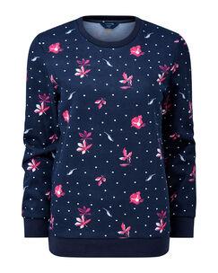 Navy Printed Sweatshirt