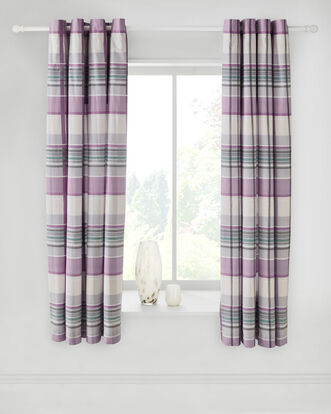 Lewis Eyelet Top Curtains 66 X 72""