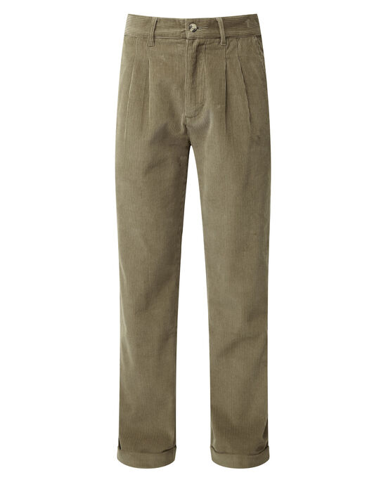 Cord Pleat Front Trousers