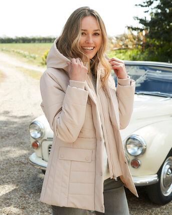 Stylish Short Padded Hooded Coat