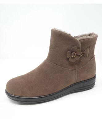 Flower Button Snug Boots
