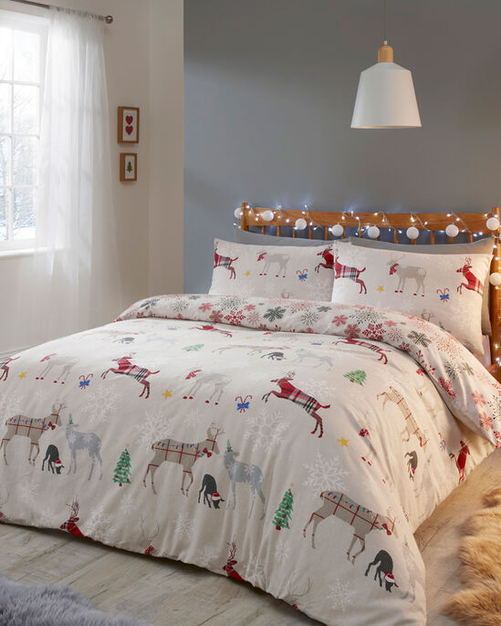 Garland Reindeer Brushed Cotton Duvet Set
