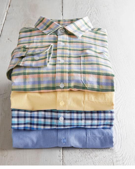 Long Sleeve Casual Oxford Shirt