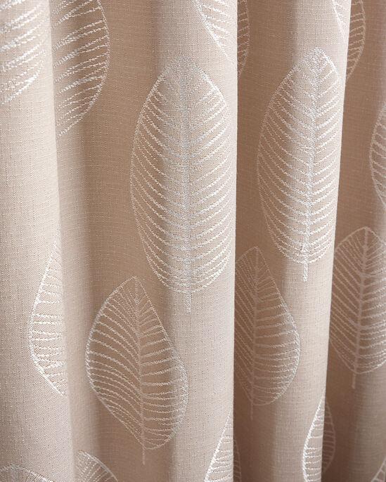 "Leaf Jacquard Eyelet Curtains 66X90"""