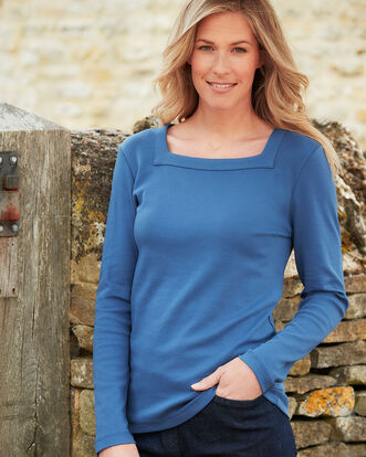 Supersoft Square Neck Top
