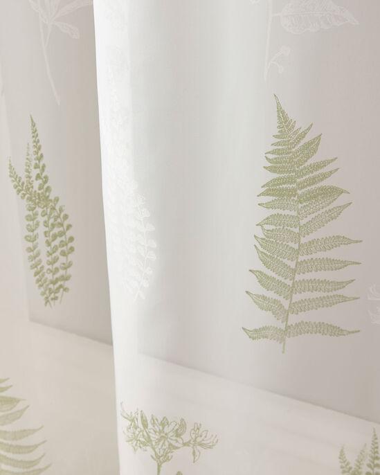 "Leaf Print Voile (Pair) 55X54"""
