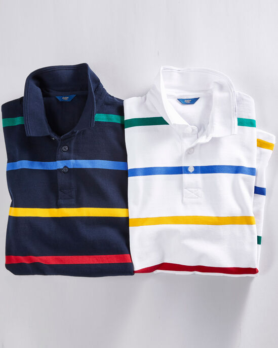 Short Sleeve Stripe Signature Polo Shirt