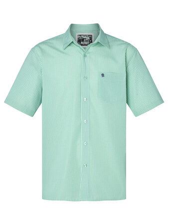 Short Sleeve Soft Touch Gingham Print Shirt
