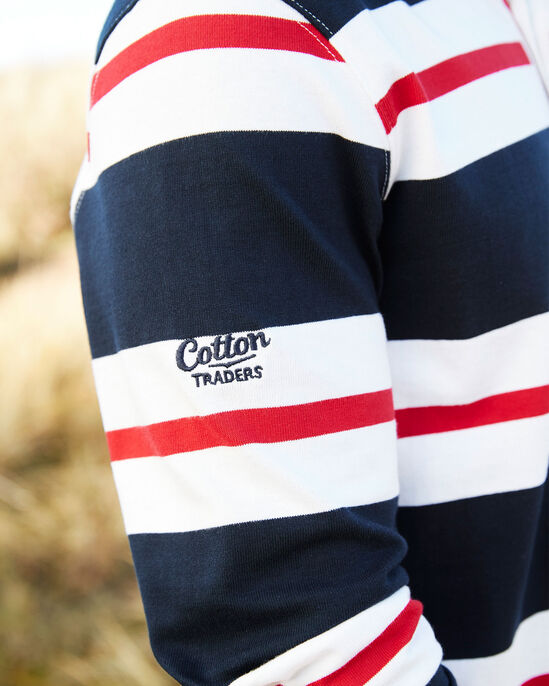 Long Sleeve Classic Stripe England Rugby Shirt