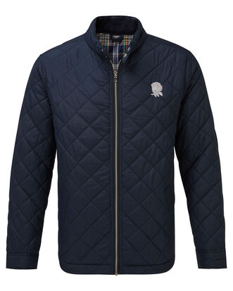 England Rose Check Lined Quilted Jacket