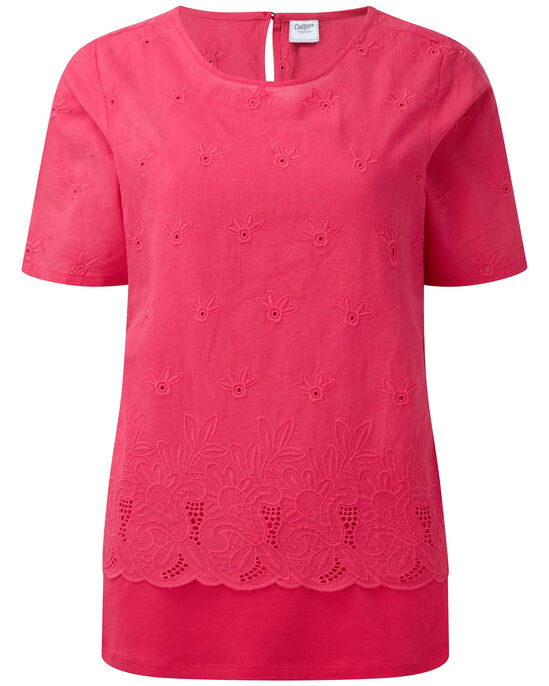 Broderie Layered Top