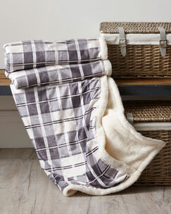 Check Sherpa Lined Throw