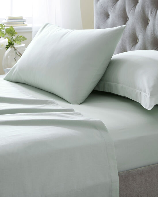 200 Thread Count Cotton Percale Oxford Pillowcase Pair
