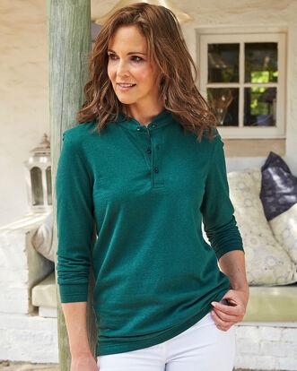 Organic Cotton Long Sleeve Grandad T-shirt