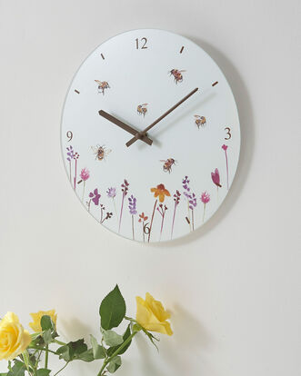 Busy Bee Glass Clock