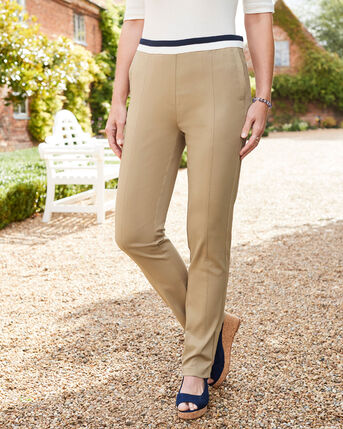 Ultra Stretch Seamed Trousers