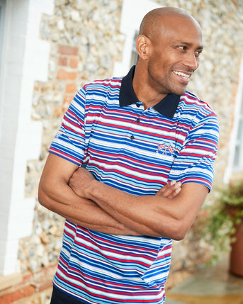 Help For Heroes Short Sleeve Fine Stripe Polo Shirt
