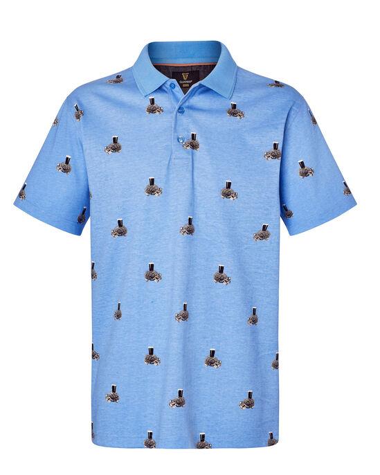Guinness® Short Sleeve Print Polo Shirt