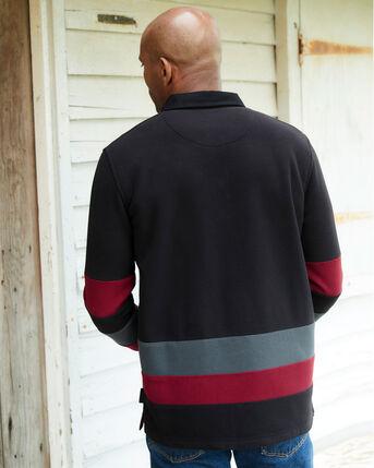 Guinness™ Long Sleeve Contrast Fleece Rugby Shirt