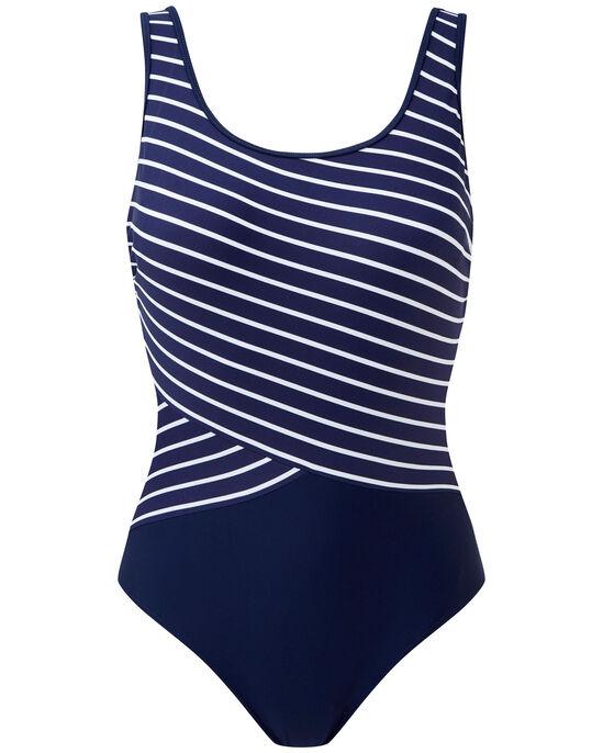 Tummy Control Stripe Swimsuit