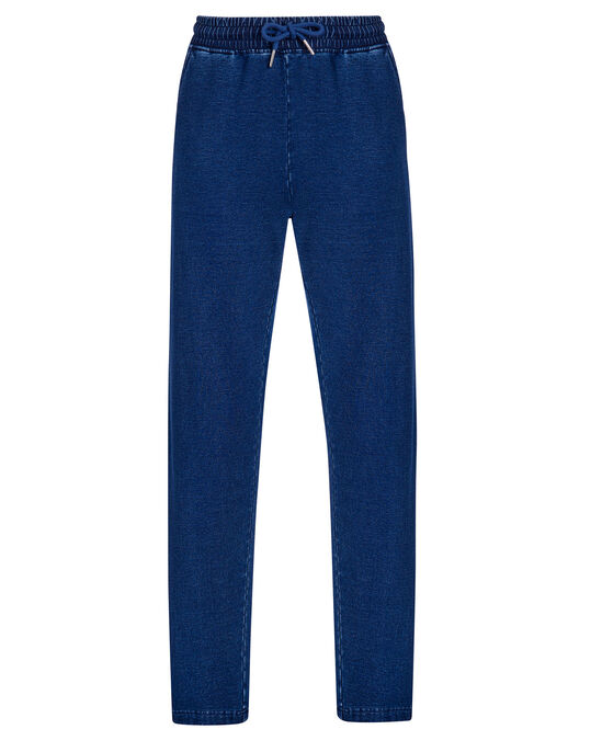 Jersey Denim Relaxed Joggers