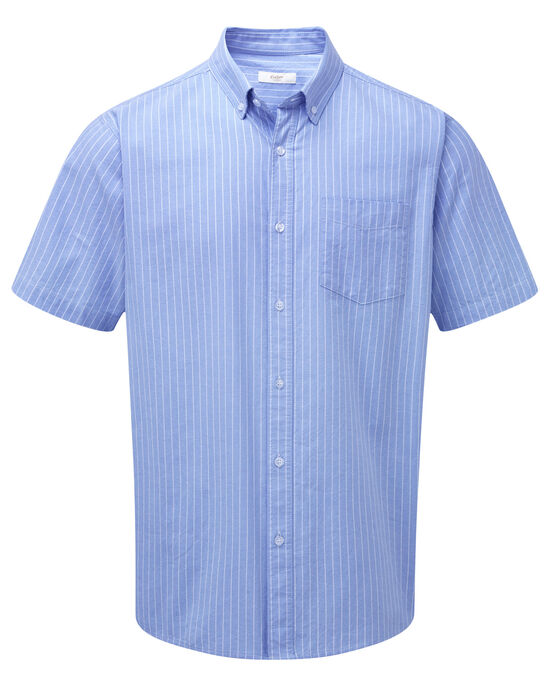 Soft Blue Short Sleeve Classic Oxford Shirt