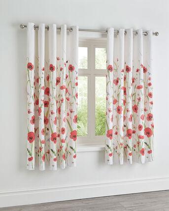 Poppy Fields Eyelet Curtains