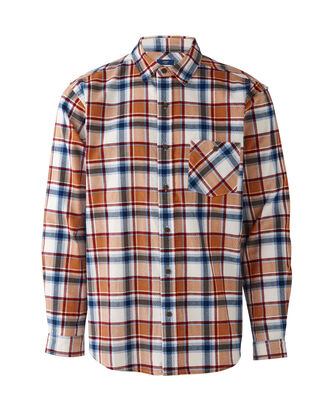 Check Long Sleeve Printed Cord Shirt