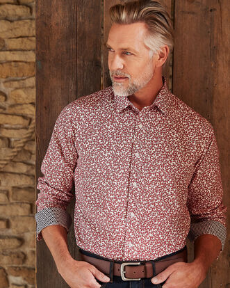 Currant Soft Touch Printed Shirt