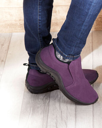 Women's Comfort Fit Suede Slip-ons