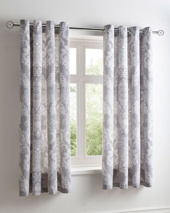 Avbury Eyelet Curtains 66X72""