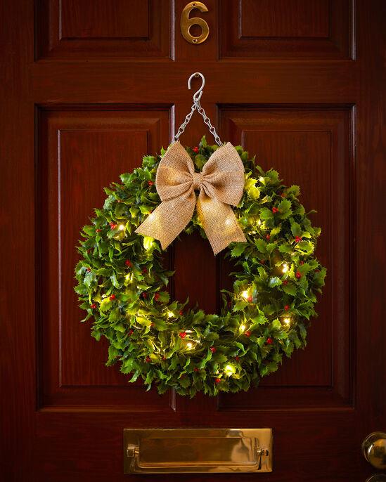 Light Up Holly Wreath