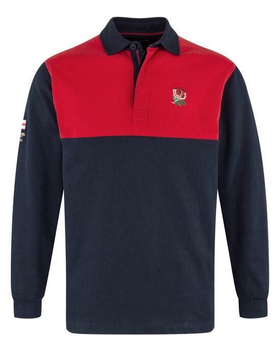 England Long Sleeve Cut & Sew Classic Rugby Shirt