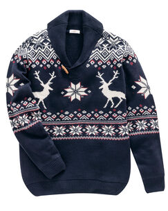 Shawl Collar Stag Jumper
