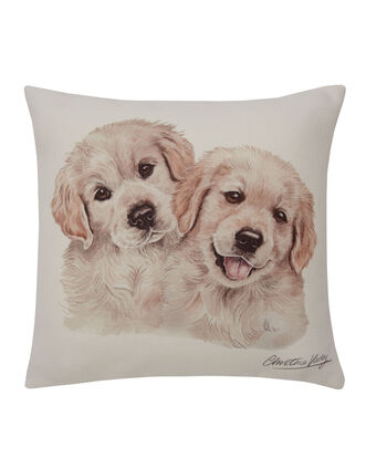 Waggy Dogz Golden Retriever Pups Cushion