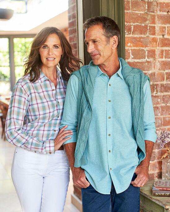 Long Sleeve Linen Rich Shirt