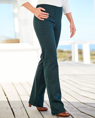 Pull-on Stretch Twill Trousers