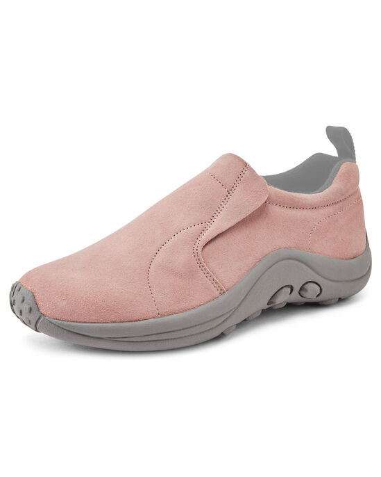 Women's Wide Fit Suede Slip-Ons