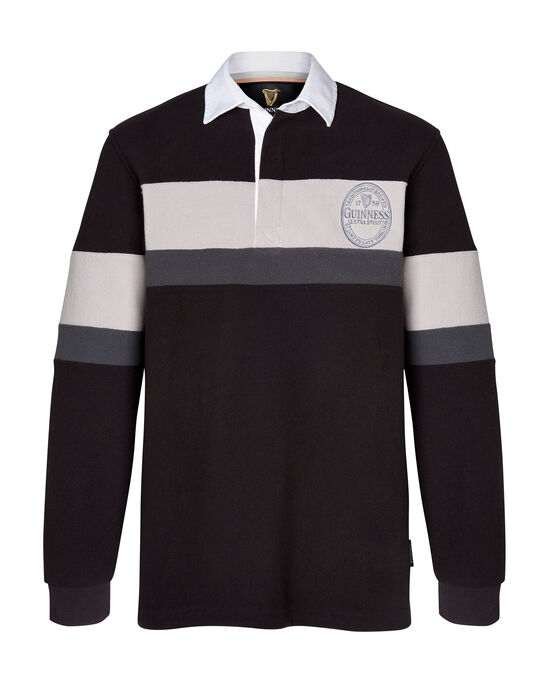 Guinness™ Long Sleeve Panelled Fleece Rugby Shirt