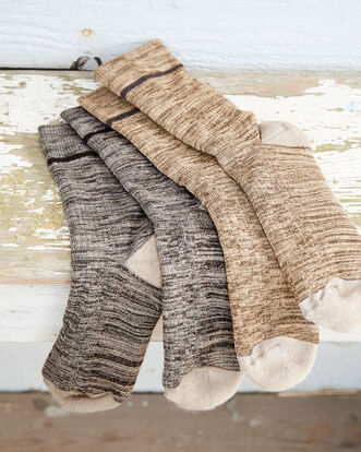 2 Pack Cushioned Sole Walking Socks