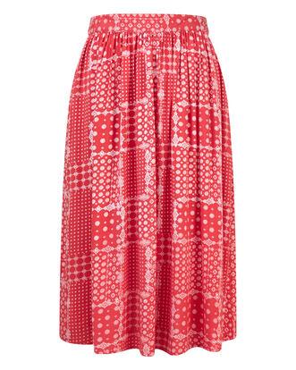 Patchwork Print Skirt