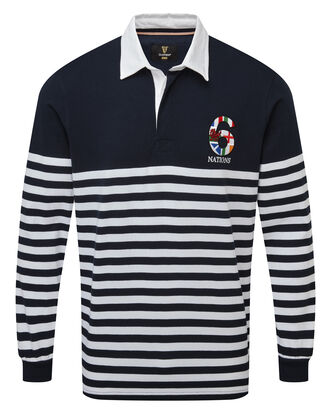 Guinness® Long Sleeve 6 Nations Stripe Rugby Shirt