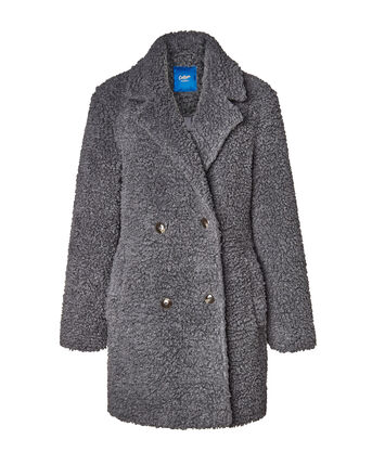 Opulent Borg Double Breasted Coat