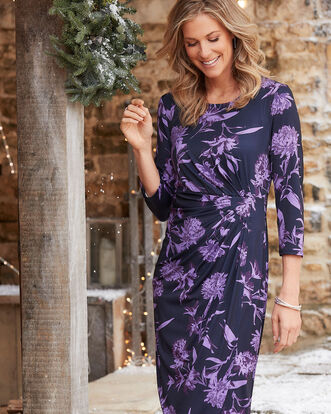 Mock Wrap Dress
