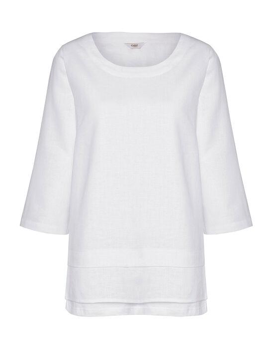 Cotton Linen-Blend Top