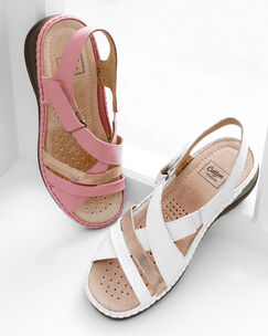 Adjustable Comfort Cross Over Sandals